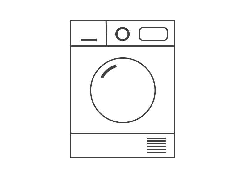 Line drawing of a tumble-dryer