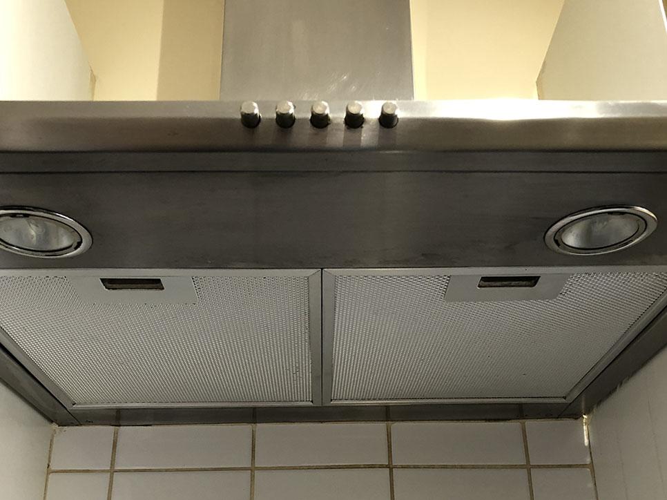 Clean oven extractor hood